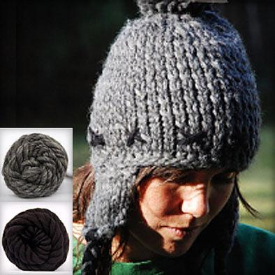 Beanie Knitting Kit - Charcoal by KnitKnit