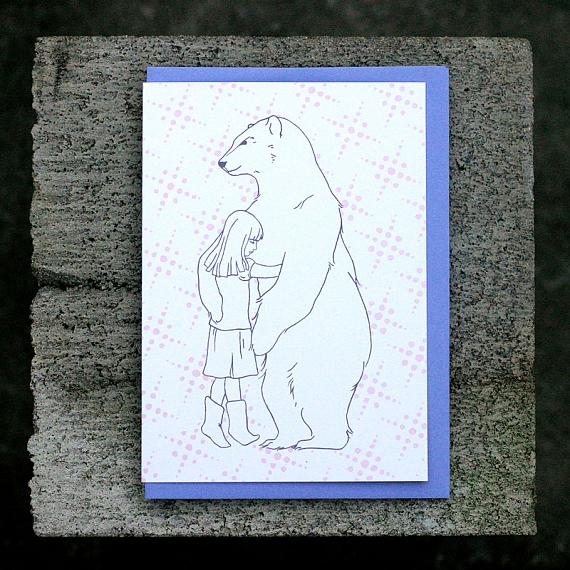 Bear Hug Greeting Card by Non-Fiction