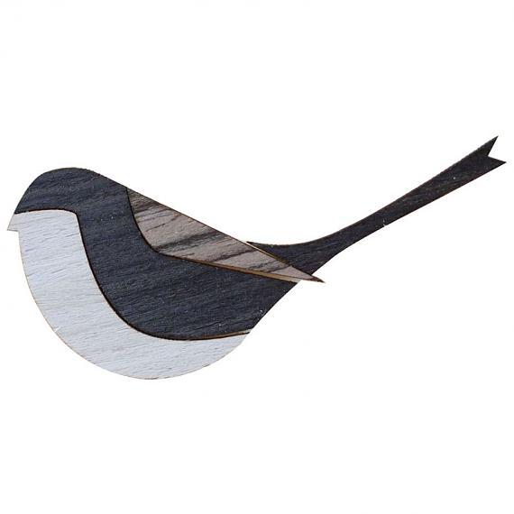 Three Tone Bird Brooch by Love Hate