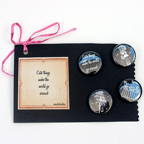 Cute Things Badge Set by Sonia Brit Designs for Bob Boutique