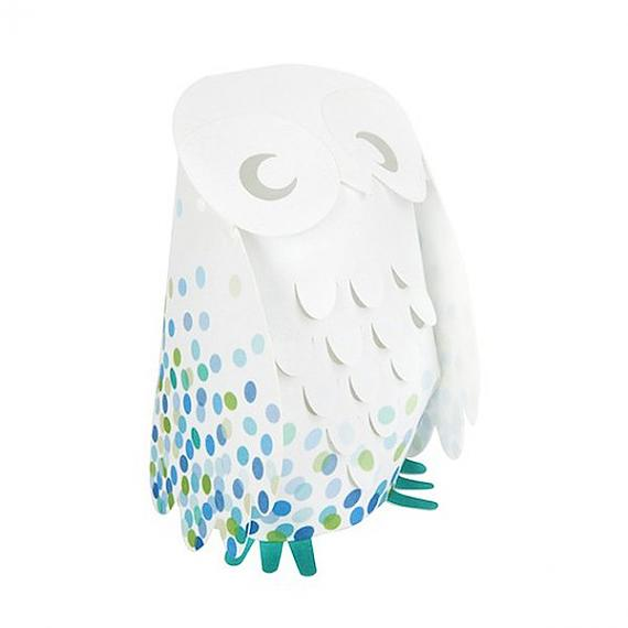 Blue Confetti Owl Low Voltage Lamp by Micky and Stevie
