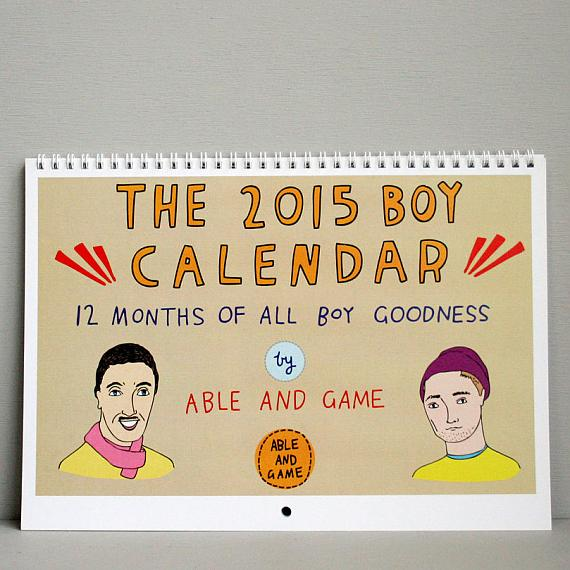 2015 Boy Calendar made in Melbourne by Able and Game