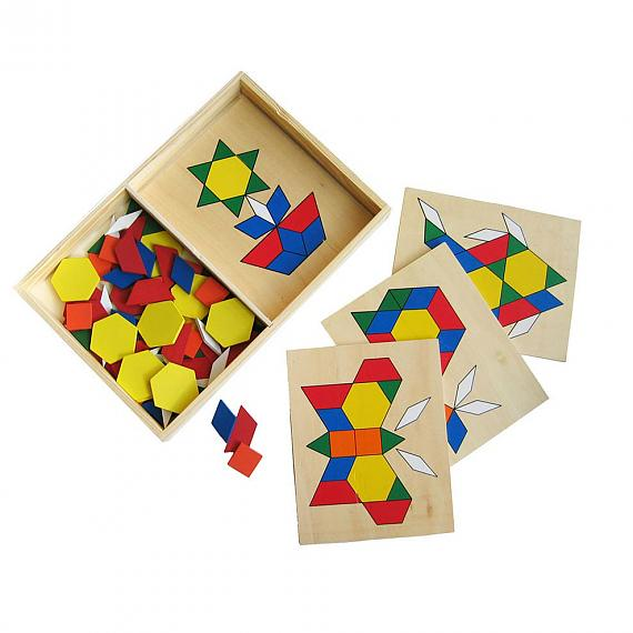 Build A Picture Geometric Mosaic Wooden Puzzle