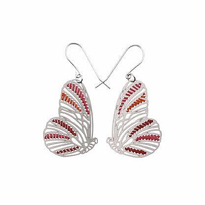 Woven Butterflies Earrings Bright by Polli