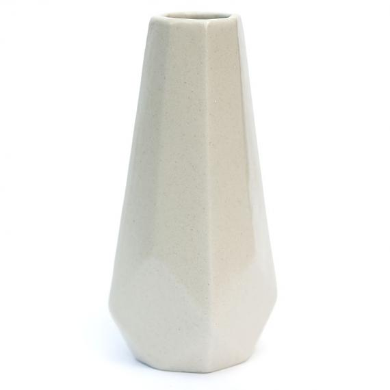 Medium Arabesque White Vessel by Love Hate