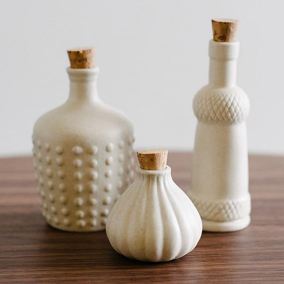 Cream Matte Ceramic Bottles designed in Australia by Love Hate
