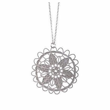 Doily Stainless Steel Pendant by Polli