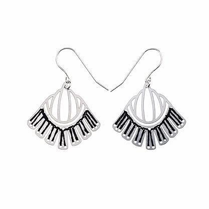 Woven Empire Earrings Ebony by Polli