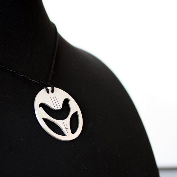 Finchbird Pendant - sterling silver pendant by Finchbird