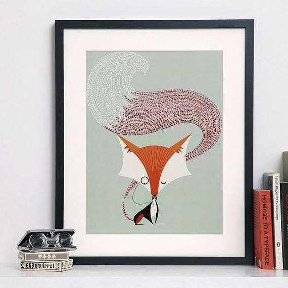 Fantastic Fox A4 Print by I Ended Up Here