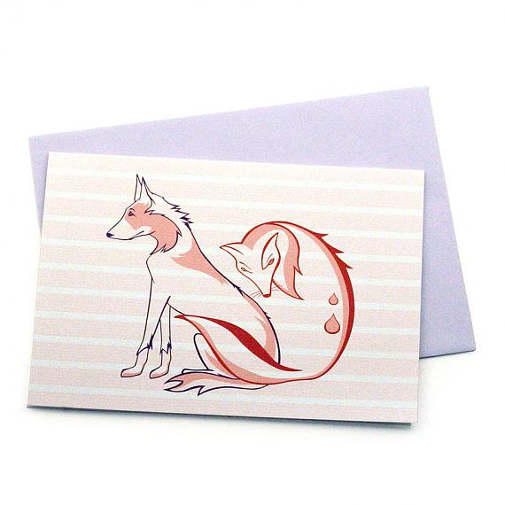 The Fox and The Hound Greeting Card by Non-Fiction