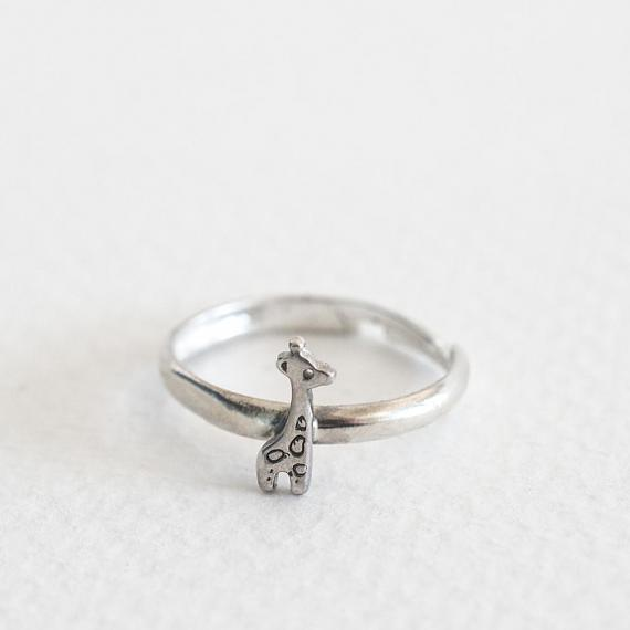 Childrens Ring - Silver Little Giraffe - designed in Melbourne by LoveHate