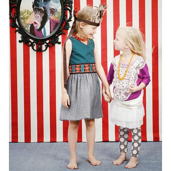 Little girls Hula Leggins by Knuffle Kid