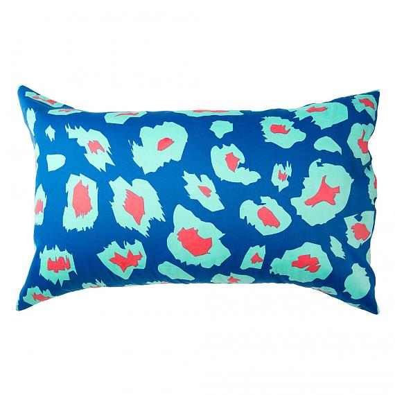 Mint Paw Leopard Print Reversible Pillowcase Back designed in Melbourne by Goosebumps