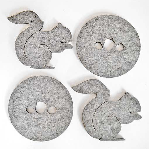 Nuts About You Coasters by Bird of Play