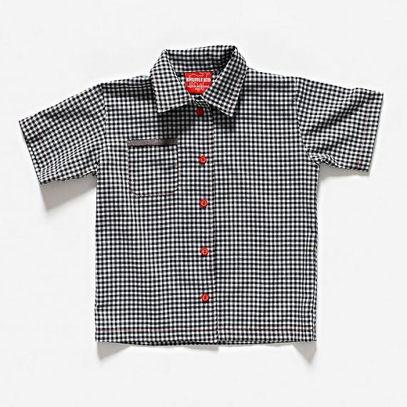The Grimm Shirt - Black Gingham by Knuffle Kid