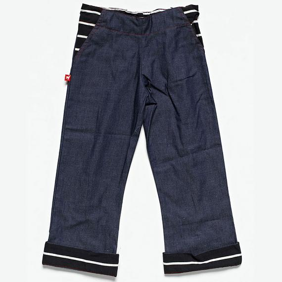 The Host Daks - Denim with Striped Trim by Knuffle Kid