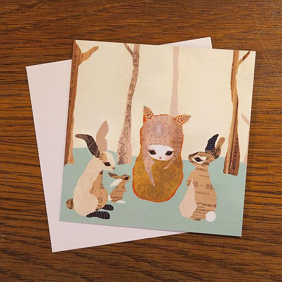 In The Woods Greeting Card by Schmooks