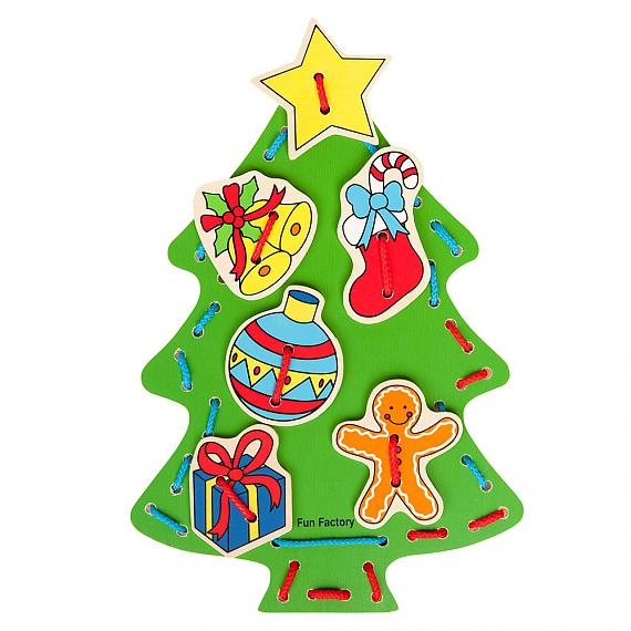 Wooden Lacing Christmas Tree designed in Australia by Fun Factory
