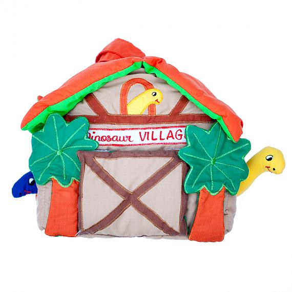 Dinosaur Village Soft House with Toys - designed in Australia by Growing World