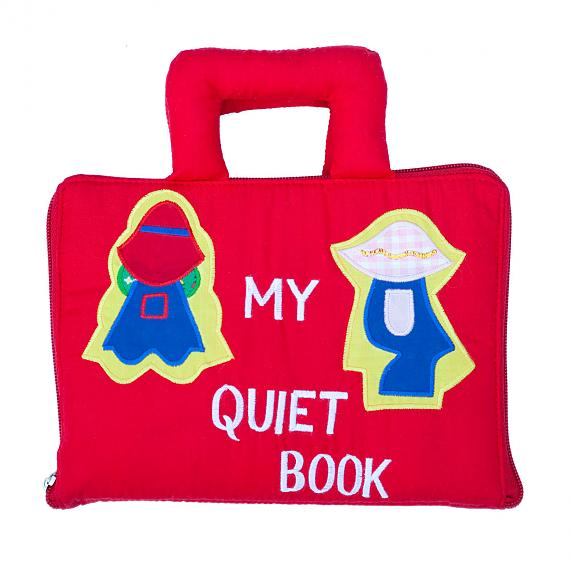 My Quiet Book - Red Soft Activity Book - designed in Australia by Growing World