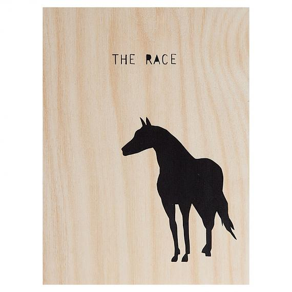 Horse The Race Print on Ply Black by me and amber