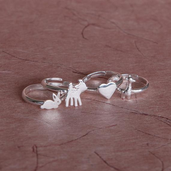 Childrens Ring - Silver Little Heart - designed in Melbourne by LoveHate