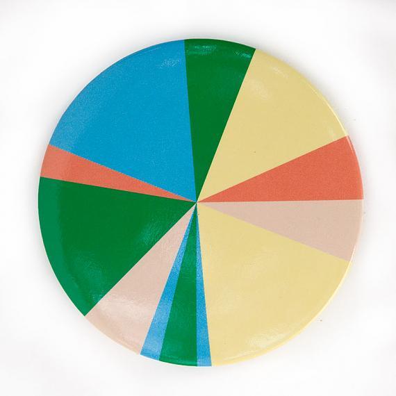 Pocket Mirror Pie Chart by Love Hate
