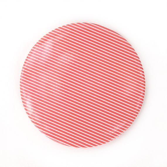 Pocket Mirror Red with White Pinstripe by Love Hate