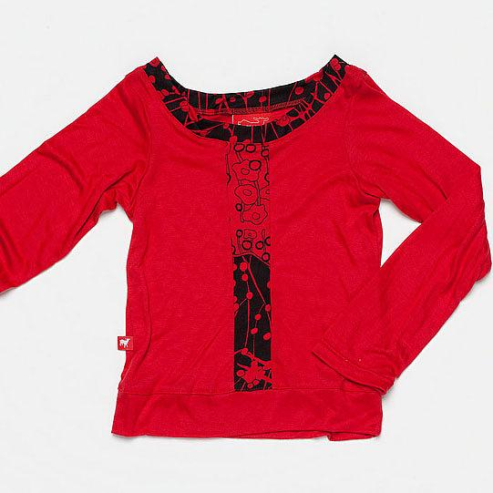 The Mod Top - Red by Knuffle Kid