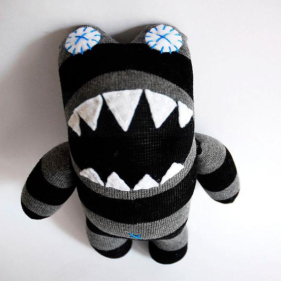 Lil Monster Craft Kit Black Amp Grey Stripes Indie Art