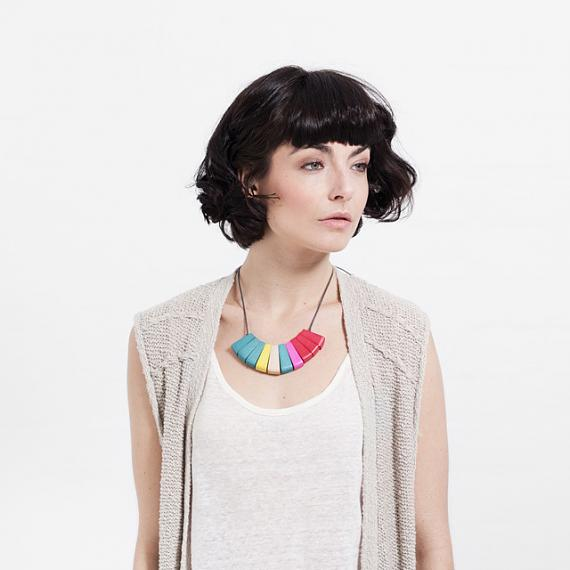 Fan Necklace - Brights, designed in Melbourne by mooku