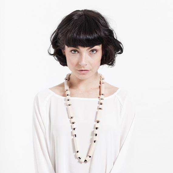 Hex Necklace - Lightwood, designed in Melbourne by mooku