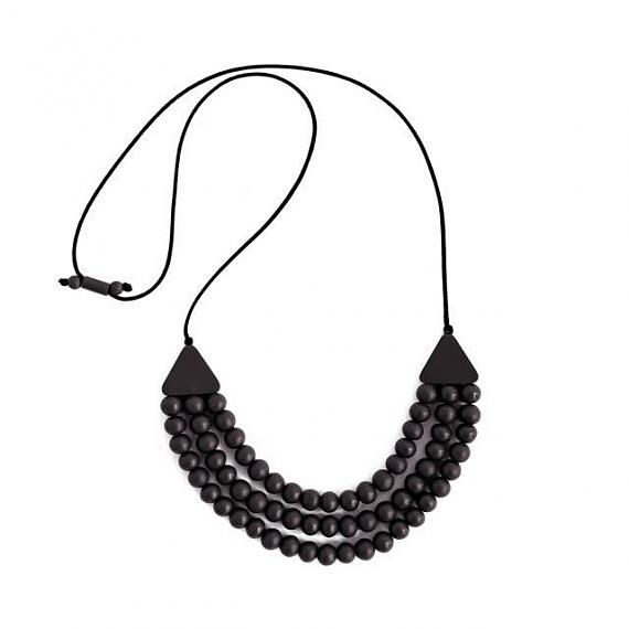 Matilda Necklace - Black Resin designed in Melbourne by mooku