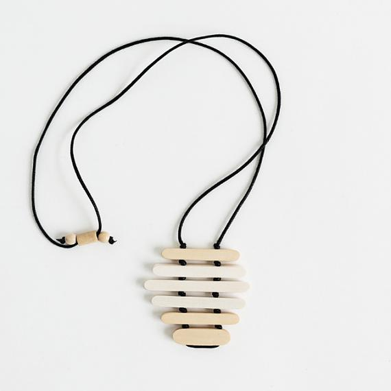 Ripple Pendant - Lightwood | White handmade in Melbourne by mooku