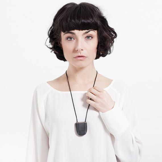 Secrets 'U' Locket Resin and Wood - Black and Transparent - designed in Melbourne by mooku