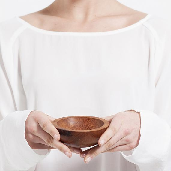 Trinket Bowl Wood - Medium - handmade in Melbourne by mooku
