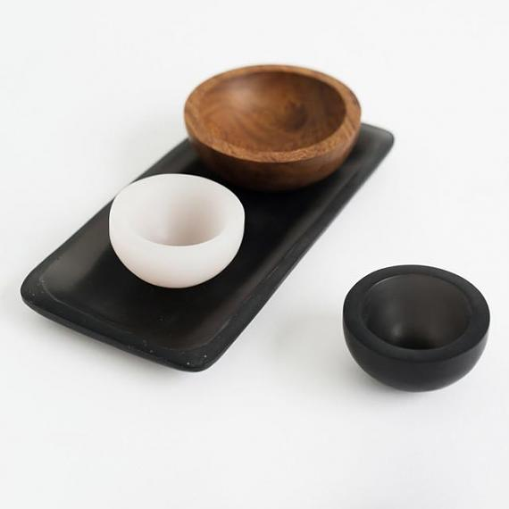 Trinket Bowl Black Resin - Small - designed in Melbourne by mooku