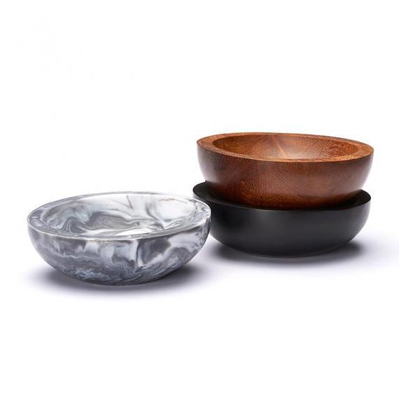 Trinket Bowl Marble Resin - Medium - designed in Melbourne by mooku