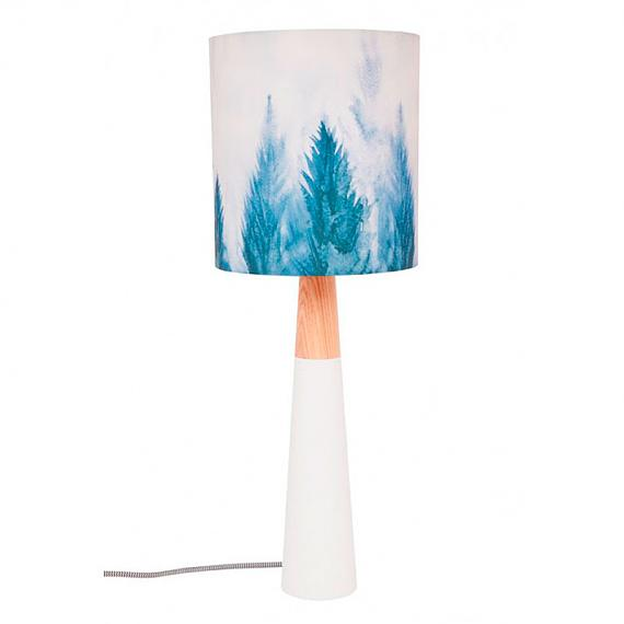 Mountain Pines Fabric Table Lamp designed in Australia by Micky & Stevie