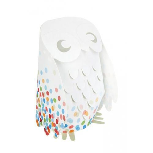 Multi Confetti Owl Low Voltage Lamp designed in Australia by Micky & Stevie