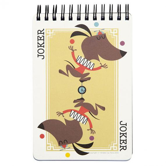 Joker Dog Notebook by I Ended Up Here