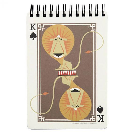 King of Clubs Lion Notebook by I Ended Up Here