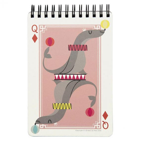Queen of Diamonds Seal Notebook by I Ended Up Here