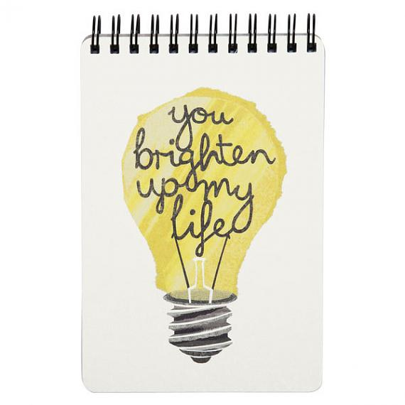 Light Bulb Notebook by I Ended Up Here