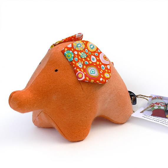 Orange Elephant by Two Little Banshees