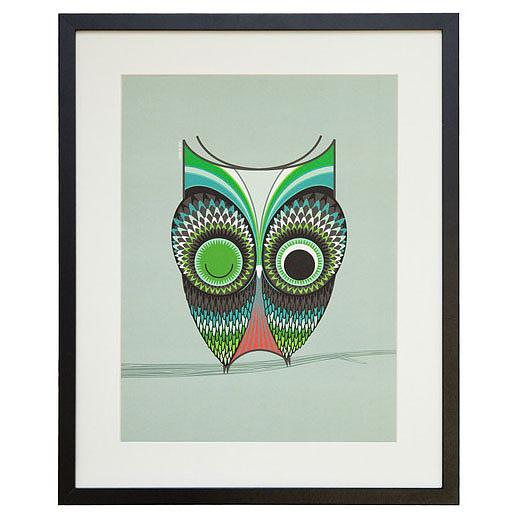 Wise Owl A3 Print by I Ended Up Here