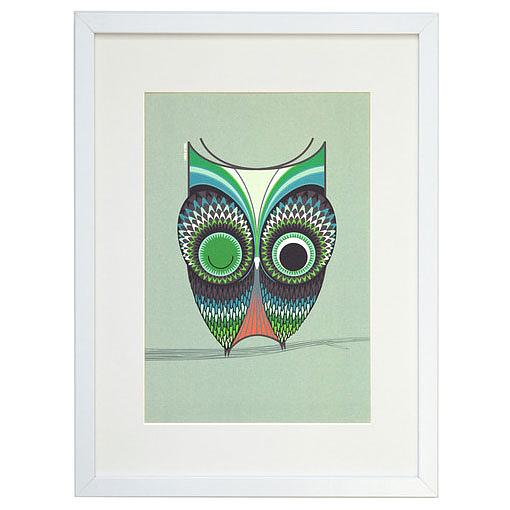 Wise Owl A4 Print by I Ended Up Here