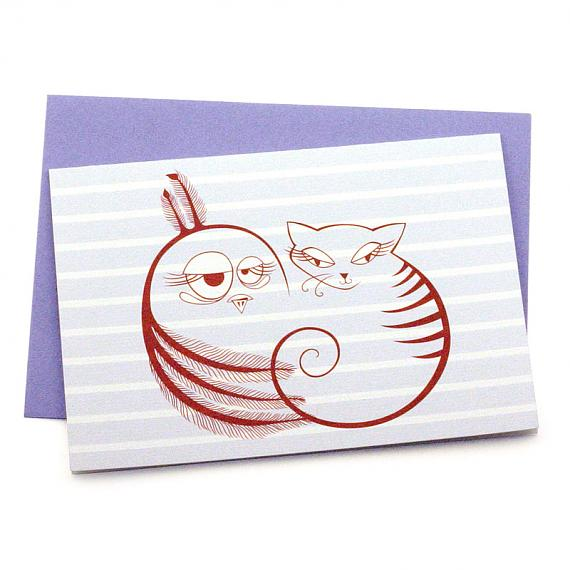 The Owl and The Pussycat Greeting Card by Non-Fiction
