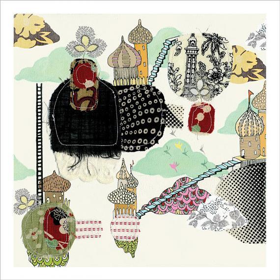 Paris in the Sky Print by Nikki Catalano